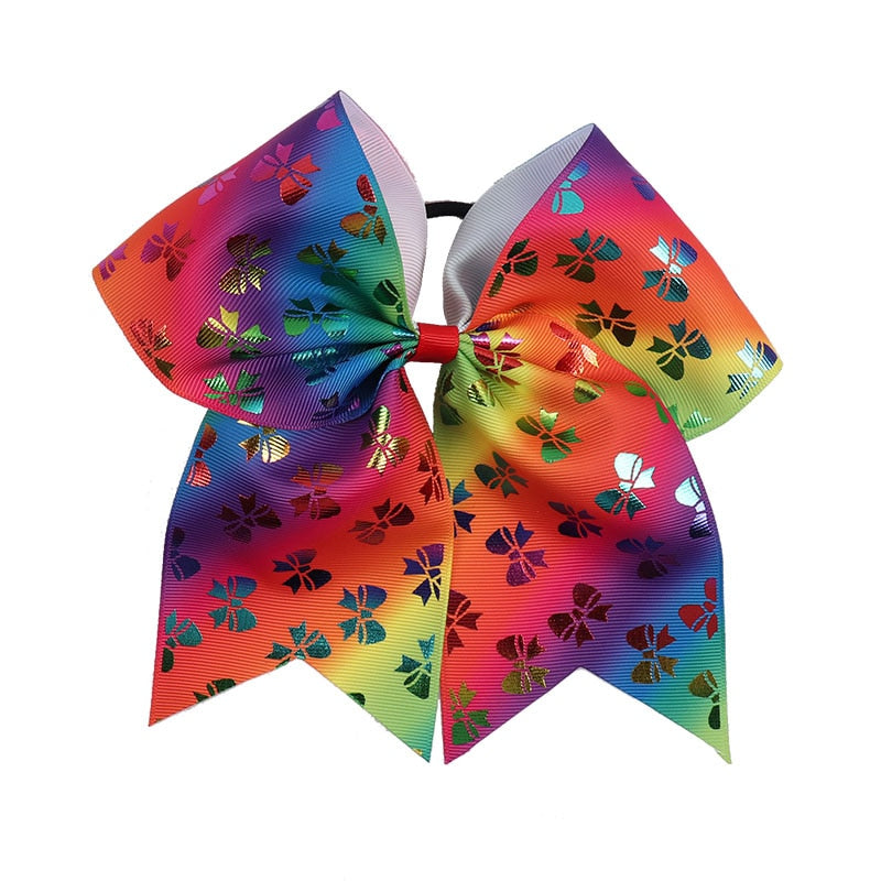 Sequin Unicorn Cheer Bows