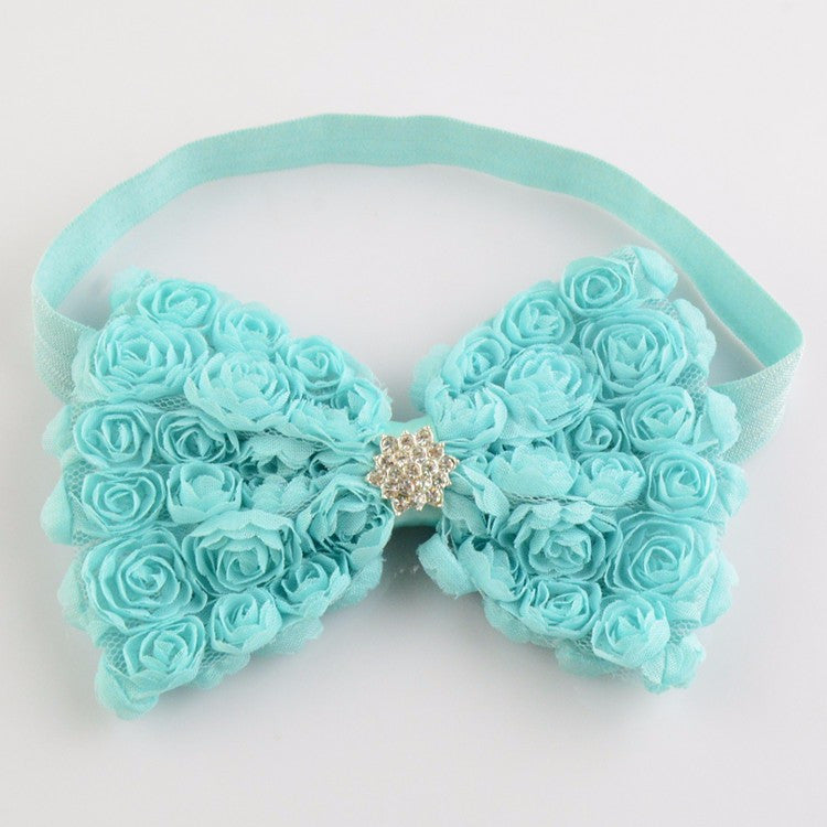 Roses and diamante headbands - Various colours