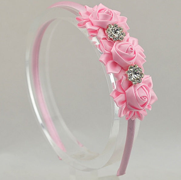 Diamante and roses headbands