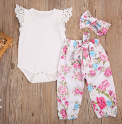 Frilly florals 3 piece set