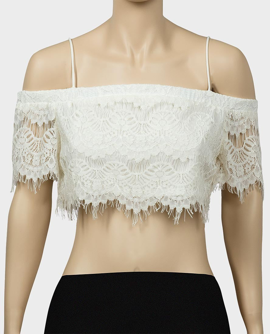Ladies lace crop top RRP £26