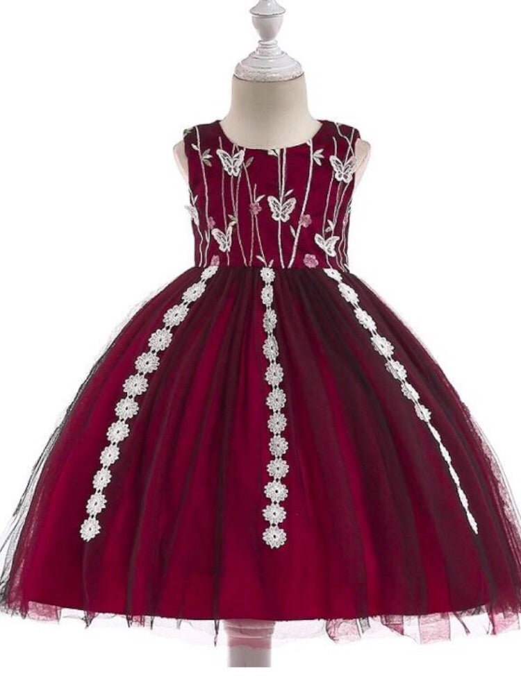52f5862fdb Burgundy butterfly gown. Images   1   2 ...