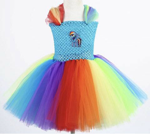 Pretty pony rainbow tutu dress