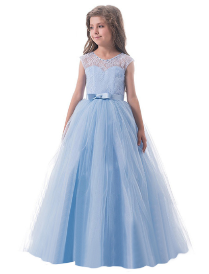 Baby blue sweetly sophisticated gown