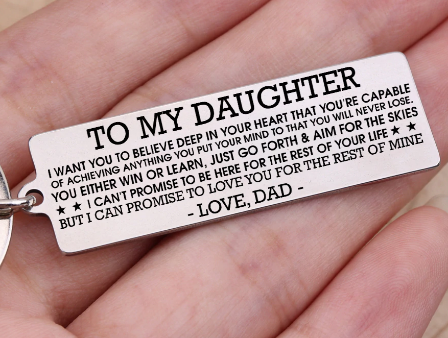 To my son keyring