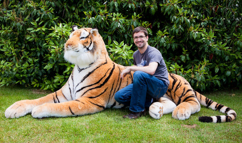 Lifesize 7 Foot Brown Bengal Tiger (Only Available in White)