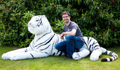 Lifesize 7 Foot White Siberian Tiger