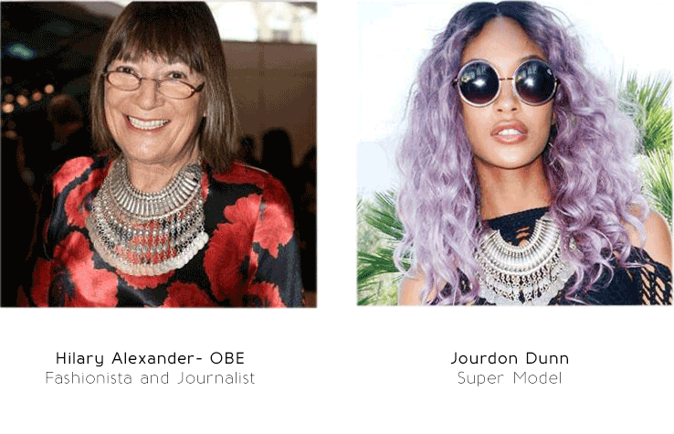 Jourdan Dunn Supermodel Wears Treaty Jewellery - Silver Fashion Jewellery