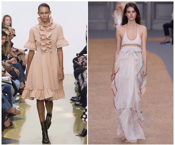 ruffle pastels and white jw anderson and chloe ss16