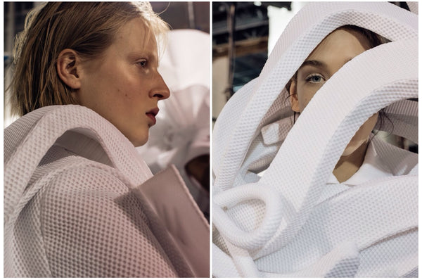 stunning backstage shots at viktor and rolf ruffle trend ss16