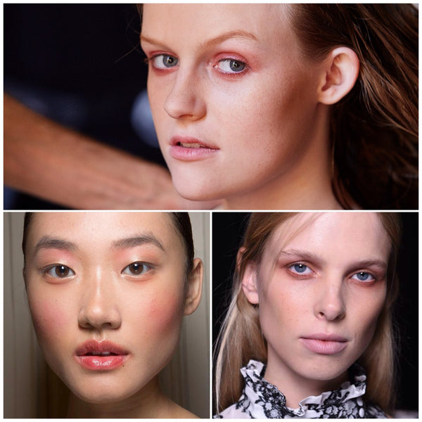 pinks and peaches tired eyes at ss16 catwalk trend