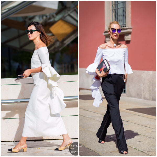 ruffle sleeves street style ss16