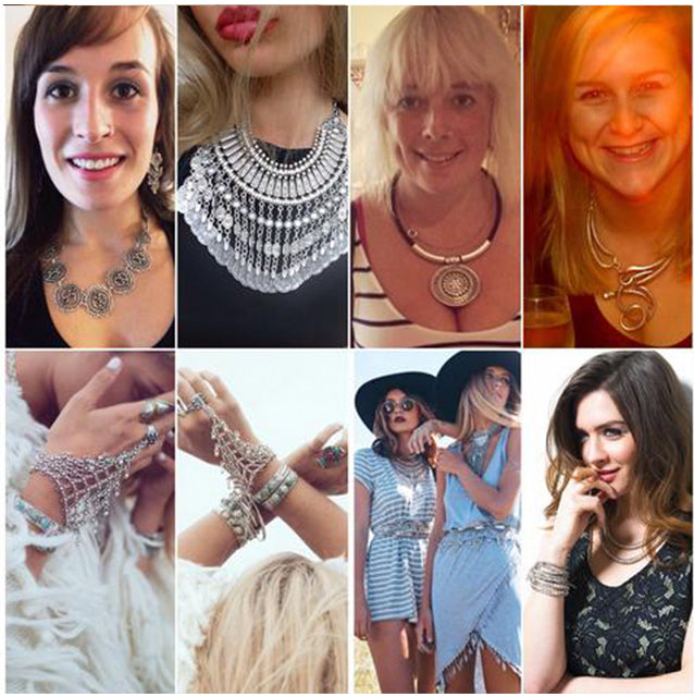 Treaty Jewellery Customers - Wearing our classic silver fashion jewellery