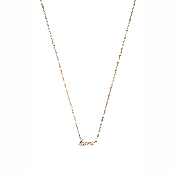 Love necklace — 14K gold