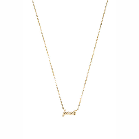 Fuck necklace — 14K Gold