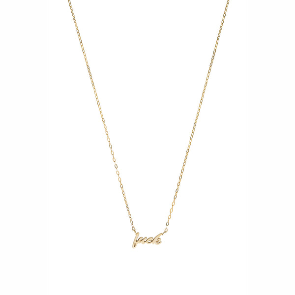 Fuck necklace — Gold