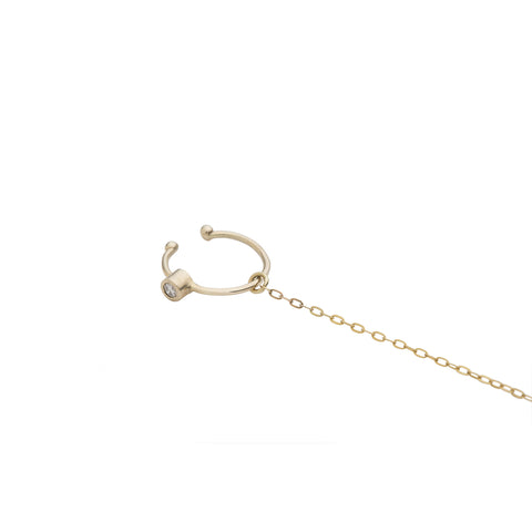Audrey ear cuff with chain