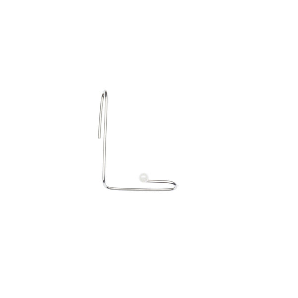 Grace earclip with pearl — Silver