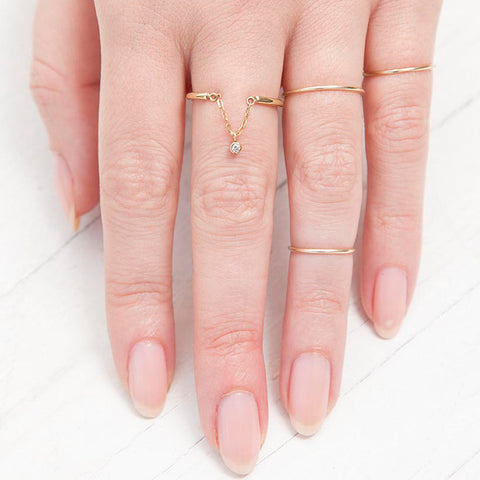 Audrey drop ring