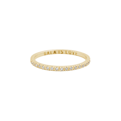 Eternity band — 14K Gold & diamonds