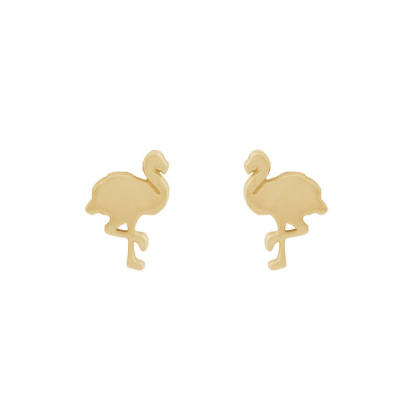 Flamingo earrings — Gold