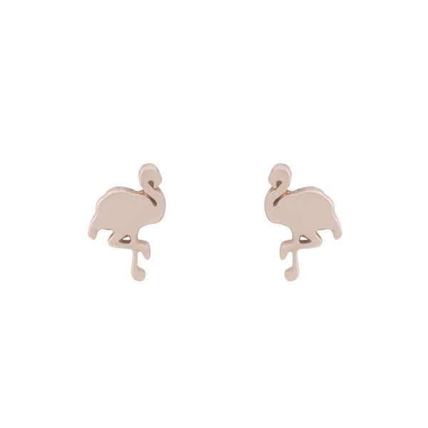 Flamingo earrings — 14K Rose Gold