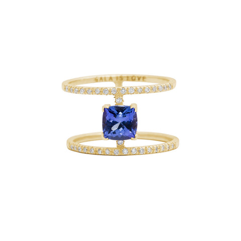 Kilimanjaro ring — 14K Gold, tanzanite & diamonds