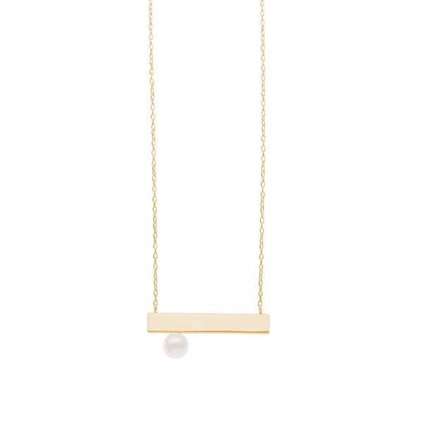 Grace Plate necklace — Gold