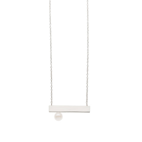 Grace Plate necklace — Silver