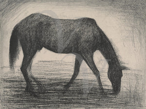 The Black Horse by Georges Seurat. Fine art print