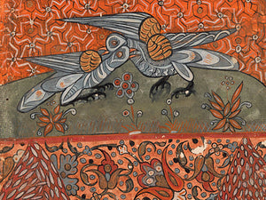Two Doves from the Kalila wa Dimna. Fine art print