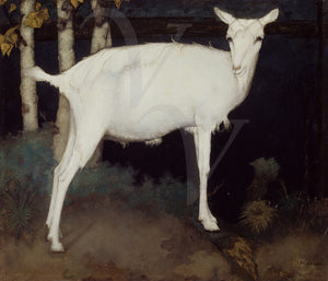 Jan Mankes painting of a white goat. Fine art print