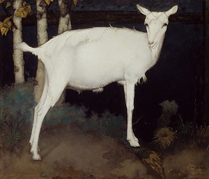 Young White Goat painting by Jan Mankes. Fine art print
