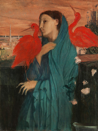 Young Woman with Ibis. Painting by Edgar Degas. Fine art print