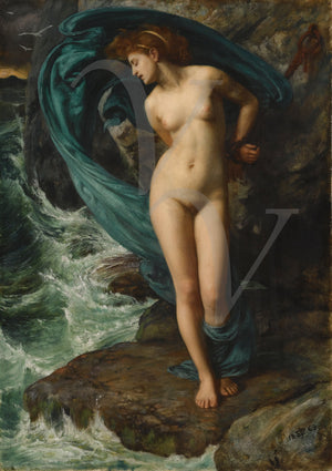 Andromeda painting by Edward Poynter. Antique mythological nude. Fine art print
