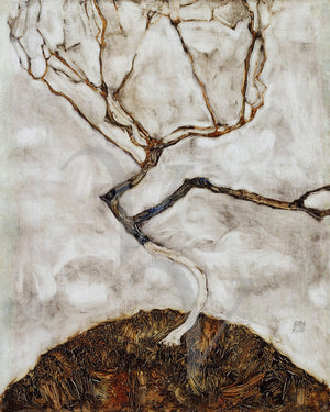 Tree in Late Autumn painting by Egon Schiele