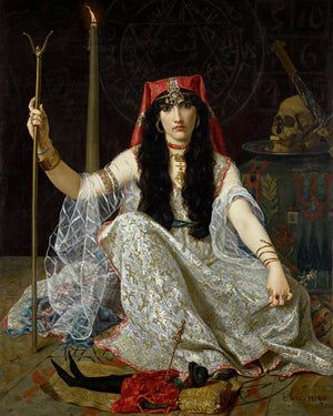 The Sorceress painting by Georges Merle. Fine art print