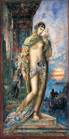 Decadent female painting by Gustave Moreau, from Cantique des Cantiques.