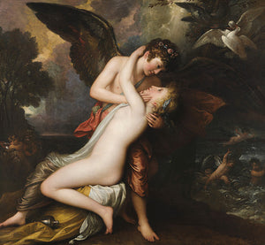 Cupid and Psyche painting by Benjamin West. Fine art print