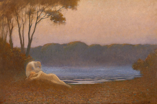 Sleeping Nymphs. Alphonse Osbert painting. Fine art print