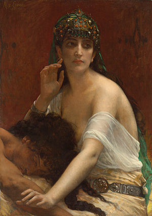 Samson and Delilah painting by Alexandre Cabanel. Fine art print