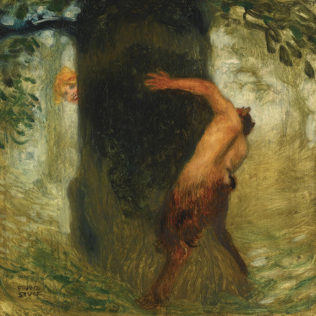 Tease by Franz von Stuck. Mythological painting. Fine art print