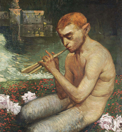 Pan Playing a Tune by the River by Gaston La Touche. Fine art print