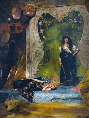 Afternoon Languor by Benjamin Constant. Oriental style painting. Fine art print