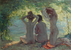 Baigneuses (Bathers) painting by Charles Hermans. Fine art print