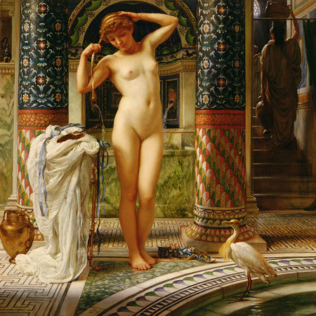 Diadumene by Edward John Poynter. Classical nude in exotic setting. Fine art print