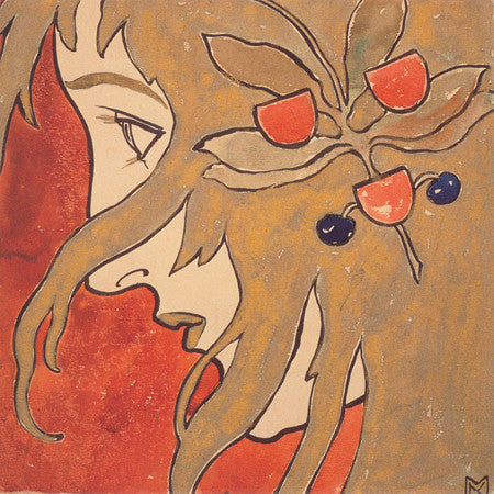 Portrait of a Girl. Art Nouveau painting by Koloman Moser. Fine art print