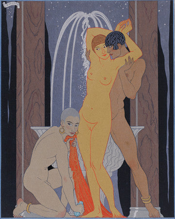 Les Vies Imaginaires by Georges Barbier. Exotic nudes. Fine art print