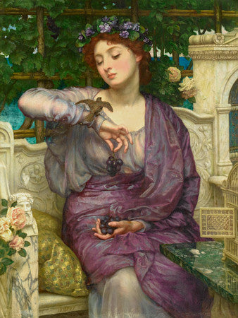 Lesbia and Her Sparrow by Sir Edward John Poynter . Fine art print