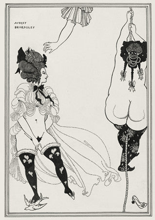 Two Athenian Women in Distress by Aubrey Beardsley. Fine art Print